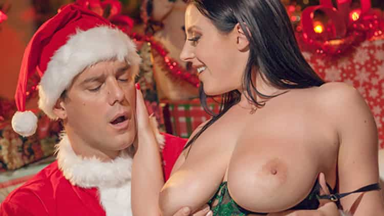 Angela White in Gets Put On Santas Naughty List - Cherry Pimps