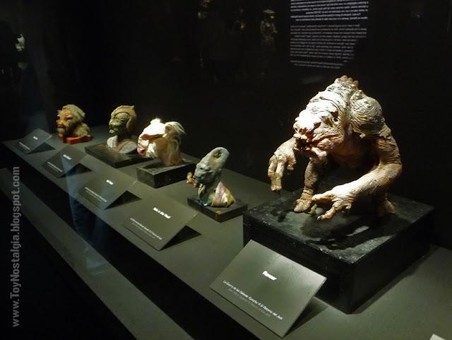 """Modelos de criaturas Palacio de Jabba the Hutt  """"Episodio VI - The Return Of the Jedi""""  (STAR WARS - The Exhibition)"""