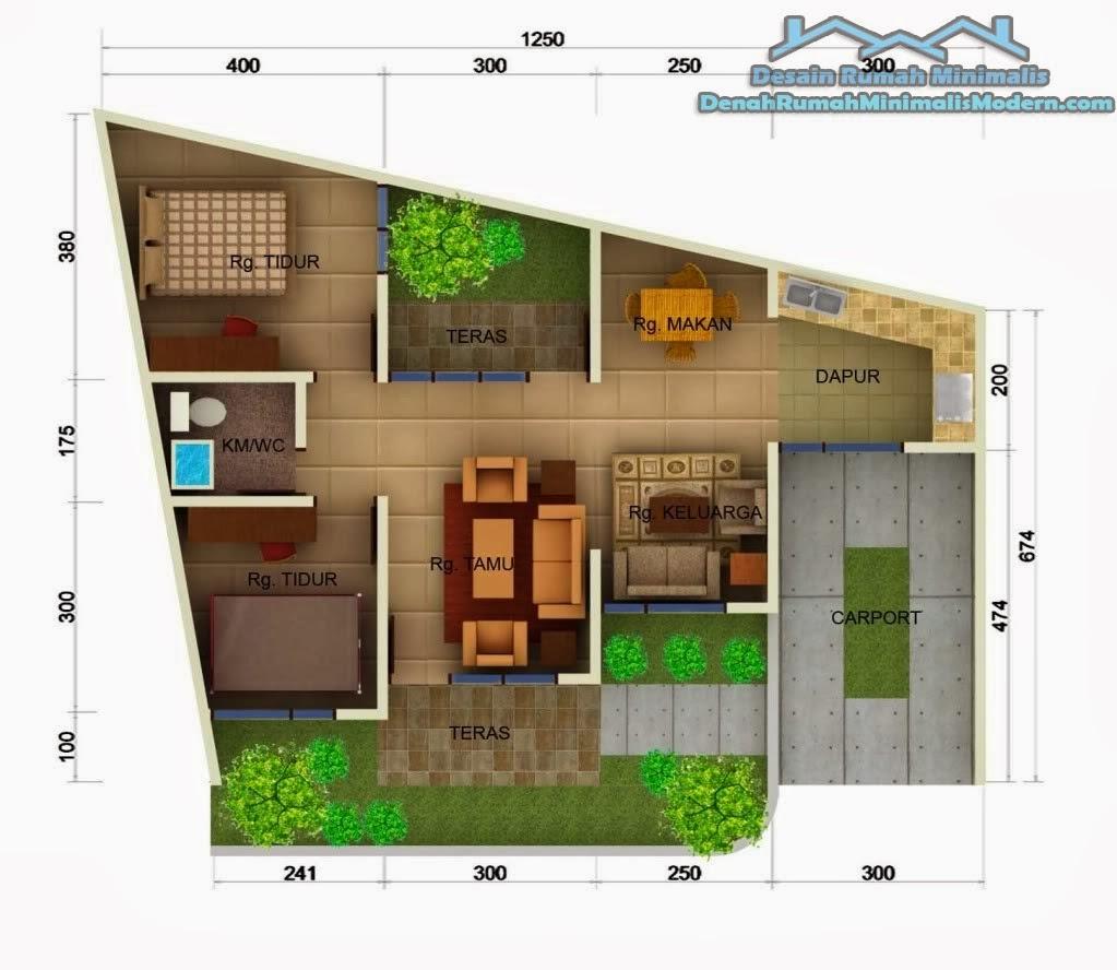 Gambar Desain Denah Rumah Minimalis Modern 1 Lantai Terbaru 2014