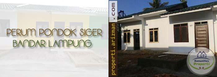 Dijual Rumah Perum Pondok Siger Lampung
