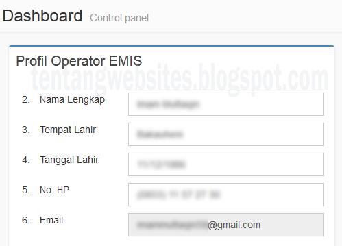 Cara Edit Data Operator Emis yang salah