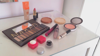 all of the products I use in my everyday makeup routine