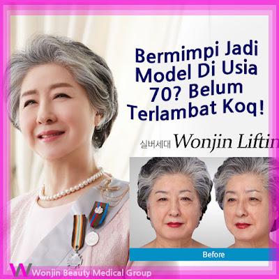 wonjin baby face v-lifting untuk wanita usia 70an