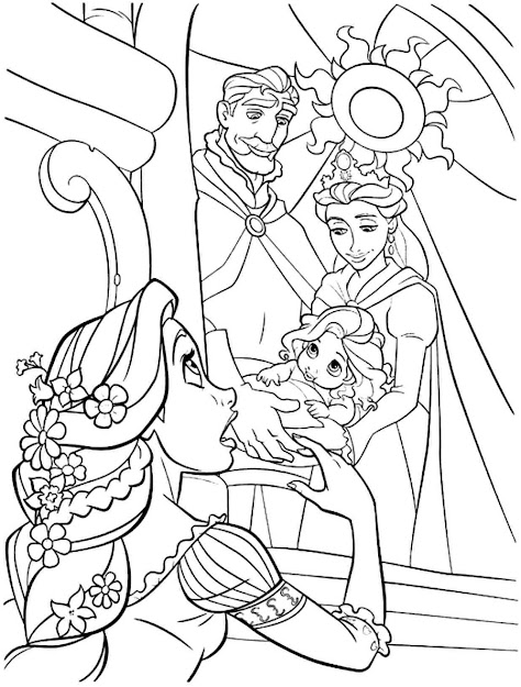 Disney Princess Coloring Pages Rapunzel Tangled Coloring Pages