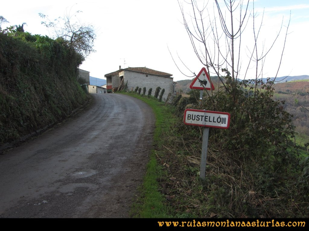 Senda de Bustavil, Tineo, PR AS-288: Bustellón
