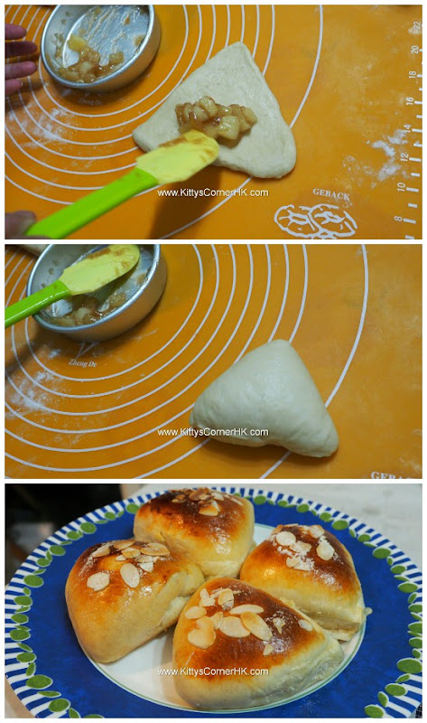 Honey Apple Roll home baking recipes 蜜糖蘋果卷自家烘焙食譜