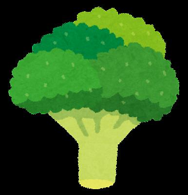 ブロッコリーのイラスト(野菜)