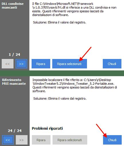 CCleaner - Registro riparato