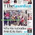 NAIJA NEWSPAPERS: TODAY'S THE GUARDIAN NEWSPAPER HEADLINES [30 DECEMBER, 2017].