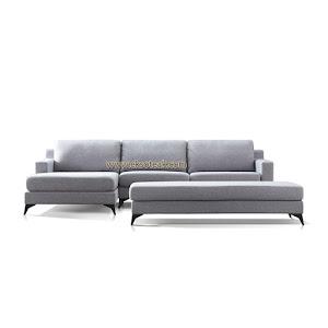 Set Kursi Sofa Tamu L Sudut Jati Minimalis Seri Leo