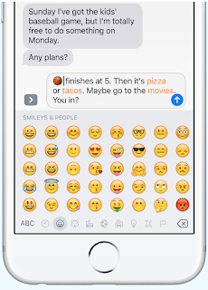 iOS 10 feature tap to replace emoji