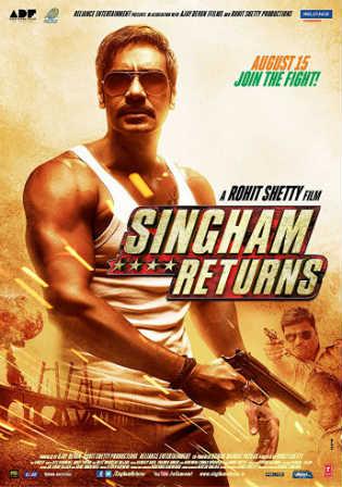 Singham Returns 2014 WEB-DL 950MB Hindi Movie 720p ESub Watch Online Full Movie Download bolly4u