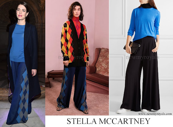 Charlotte Casiraghi wore Stella McCartney Trusers and Stella McCartney Wool sweater