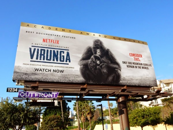 Virunga Documentary Oscar nominee billboard