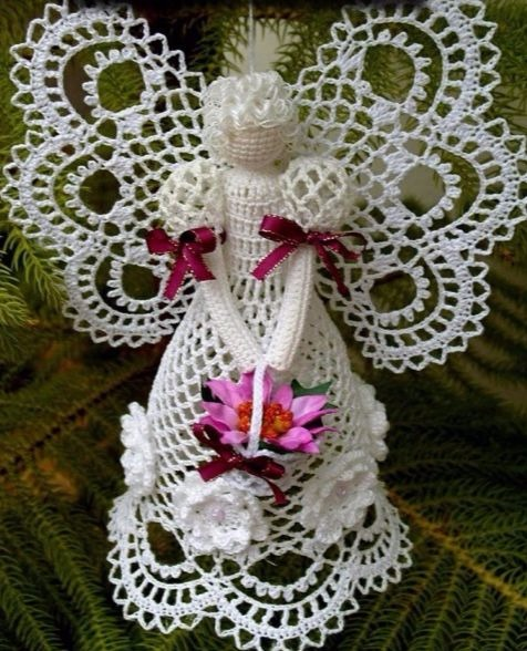 Crochet angels sing for Christmas