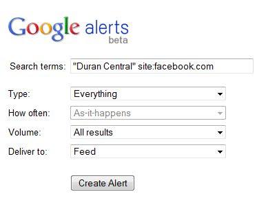 Duran Central: Facebook Alerts