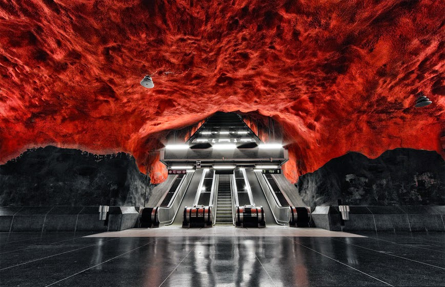 17. Solna Centrum Subway Station – Stockholm, Sweden - 27 Amazing Travel Photos That Will Infect You With The Travel Bug