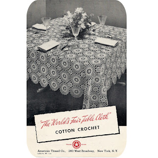 Crocheted World's Fair Tablecloth Pattern