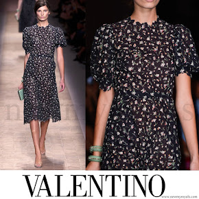 Crown Princess Mette-Marit wore Valentino Dress - Spring 2013 Ready-to-Wear