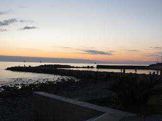 tramonto di natale a Civitavecchia