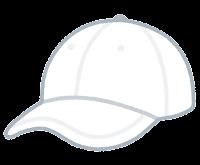 野球帽のイラスト(白)