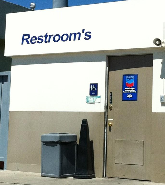 Gas Station Bathroom Catastrophe Apostrophe Catastrophes