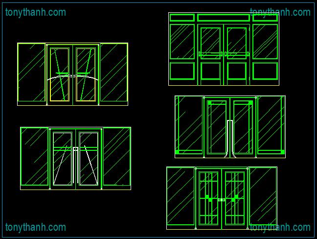 Door Aluminium Dwg Amp Autocad Drawing Of Auto Glass