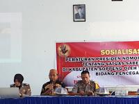 Lakukan Pencegahan Pungli , Satgas Saber Pungli Soppeng Sosialisasi