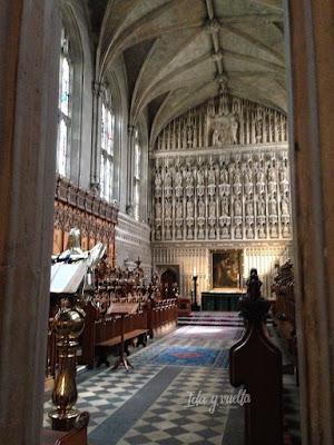Coro en la iglesia del Magdalen College