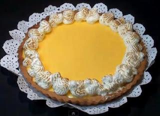 Foto de un pye de limón o tarta de limón