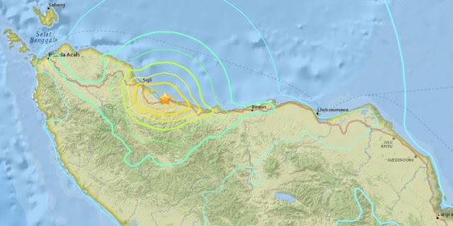 Aceh Kembali Diguncang Gempa Susulan 5 SR Rabu Malam