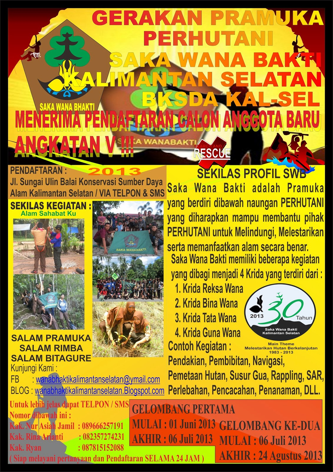 Saka Wana Bakti Kalimantan Selatan Pendaftaran Calon Anggota Baru