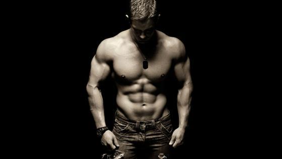Muscular transgender man