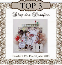 I made it to TOP 3 at Blog dos Desafios. Yayy!!