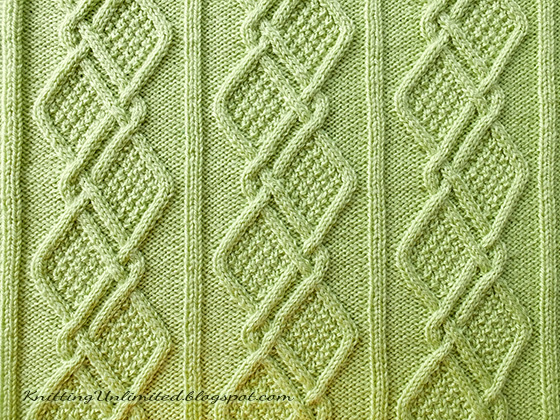 Moss Diamonds Cabled Blanket Pattern Knitting Unlimited