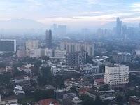 Subhanallah, Ada Penampakan Gunung di Jakarta Pasca Hujan