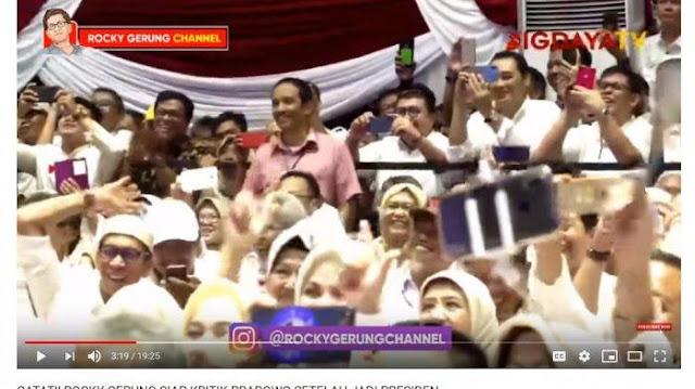 Rocky Gerung Sindir Pembagian Sertifikat hingga Ingin Nyapres di 2024, Pendukung Prabowo Bersorak
