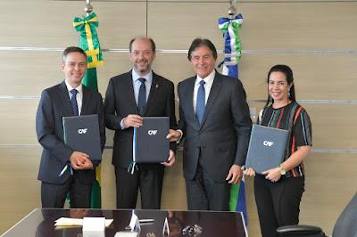 Eunício e Ivo assinam crédito de R$ 190 milhões com o CAF para execução de obras e ações em Sobral