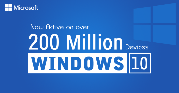 Microsoft Windows 10 Is Now Installed On Over 200 Million Devices
