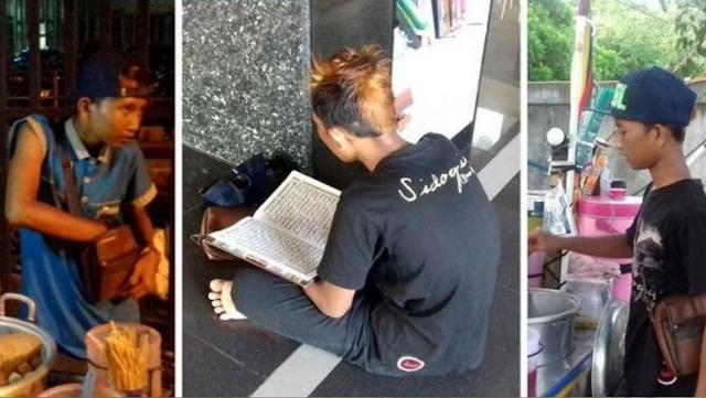 Jangan Nilai Penampilannya! Bocah Penjual Cilok Ini Selalu Sempatkan Baca Al-Quran Bahkan Mampu Menghafal 25 Juz