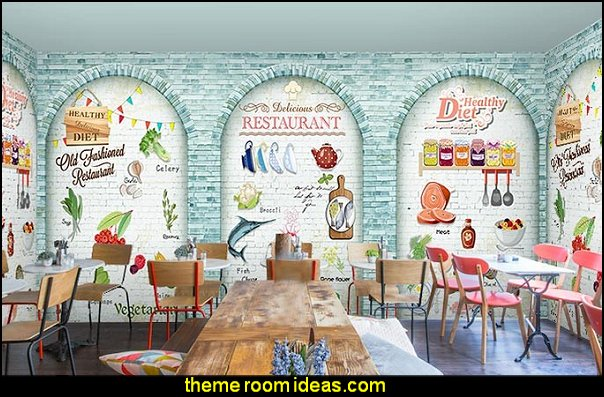 food wallpaper cafe decor bistro menu dining bistro kitchen decorating
