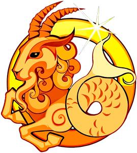 Imagen de una Cabra dorada viendo hacia la derecha que representa al signo zodiacal Capricornio