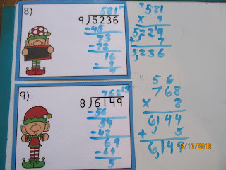 Elves Long Division With Remainders Task Cards