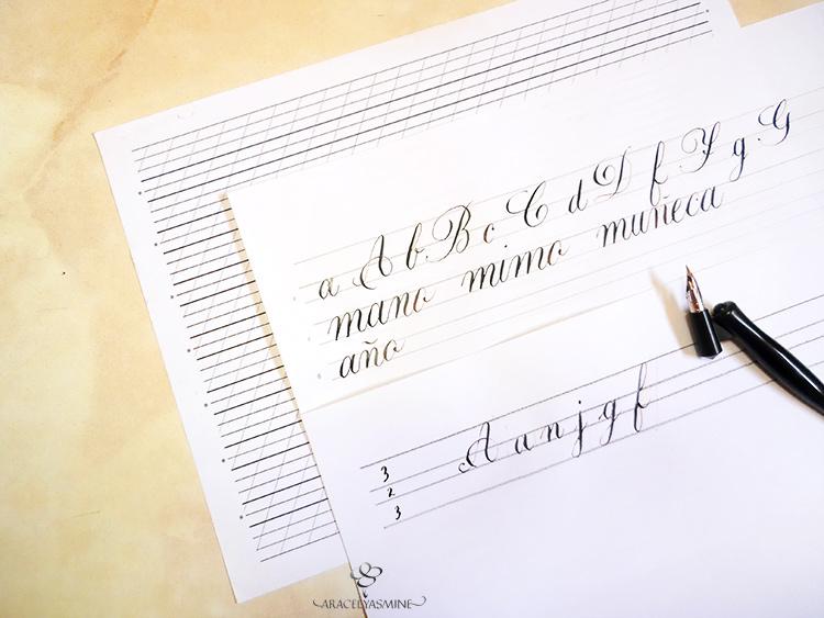 ¿Cómo hacer mis plantillas para caligrafia?