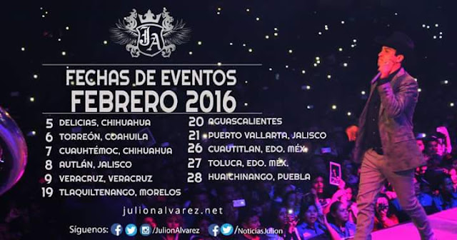 presentaciones julión álvarez febrero 2016