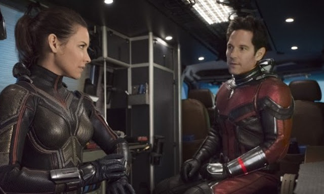 "Evangeline Lilly and Paul Rudd in Marvel's ""Ant-Man and the Wasp"""