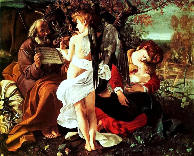 Caravaggio   Reipouso durante a Fuga ao Egitto - Caravaggio