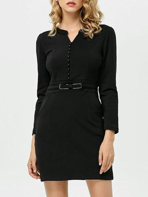 Mini short black Dress