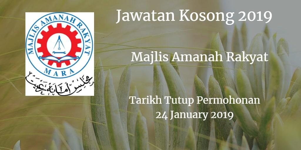 Jawatan Kosong MARA 24 January 2019