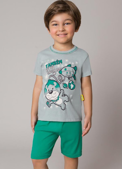 conjunto de menino verde